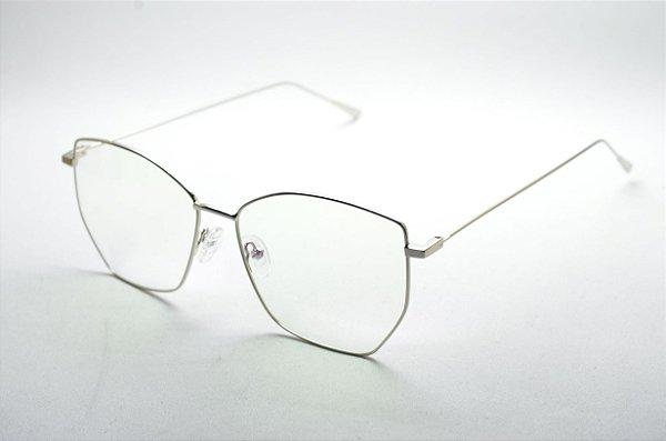 e8fb59283c9eb Armação óculos para grau feminino ou masculino dourado corujinha retro  metal redondo grande