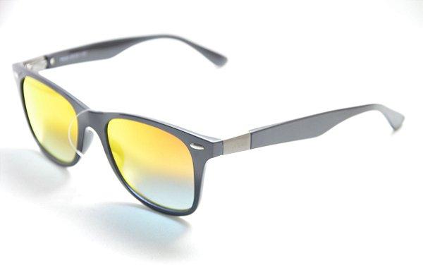 1ad977ecb6ce8 Óculos de sol masculino redondo lente espelhada proteção UV400 retro moda  Phantom