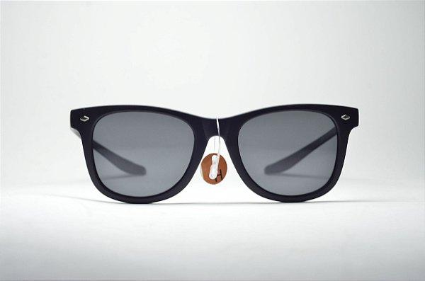 b8f344d474b87 Óculos de sol masculino preto redondo lente espelhada proteção UV400 moda  masculina