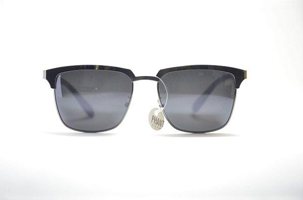 9056fce7a70f7 Óculos de sol masculino quadrado metal lente espelhada proteção UV400 moda  masculina Phantom