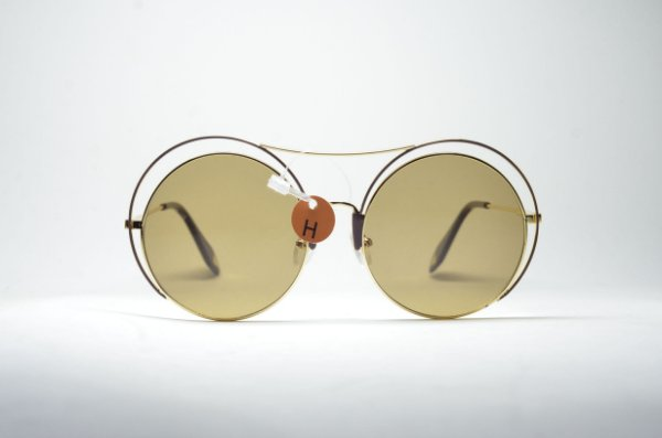 d305236989b30 Óculos de sol dourado redondo metal fino grande blogueira lente espelhada  proteção UV400 moda feminina