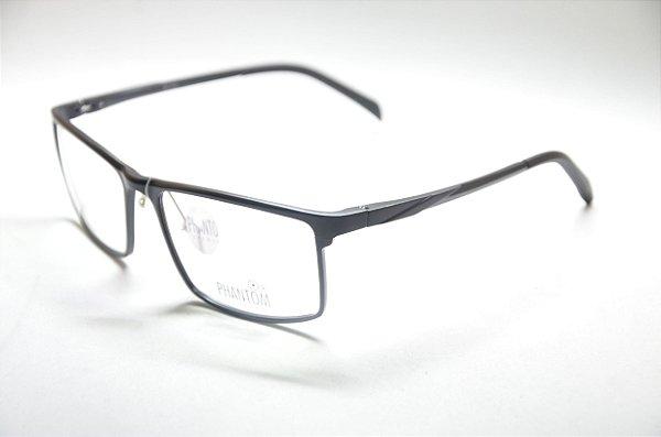 c1f3ac91b11f0 Armação para grau óculos alumínio esportivo masculino preto quadrado  multifocal moda Phantom 2019