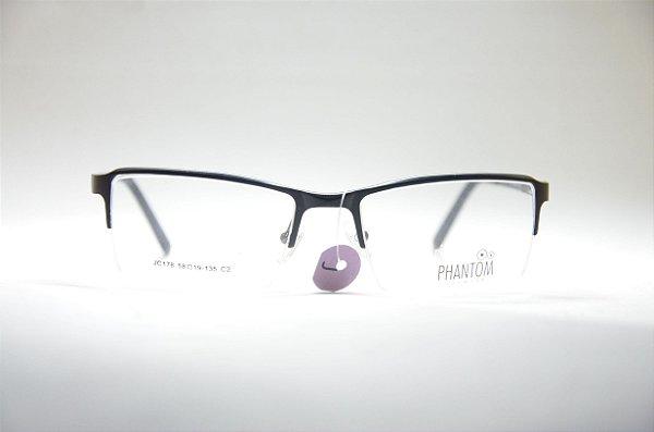 804b5d68e7cd6 Armação para grau óculos alumínio esportivo preto quadrado multifocal  masculino ou feminino Phantom 2019