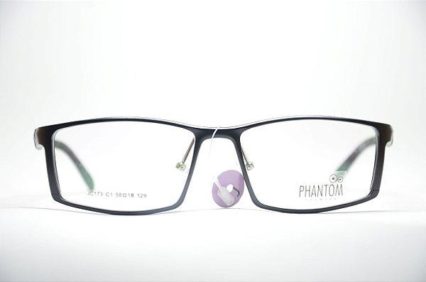 078d20f825b2b Armação para grau óculos masculino TR preto quadrado multifocal moda Phantom