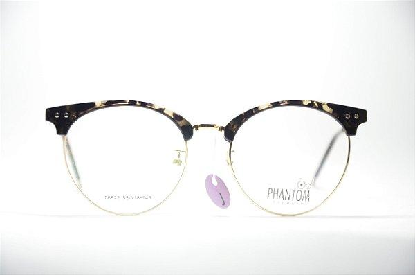 12fe91c49881c Armação para grau óculos masculino ou feminino TR dourado redondo resistente  na moda juvenil