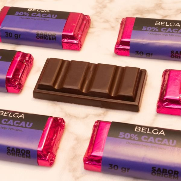 Tablete Chocolate Belga Origem 50% Cacau - 30g