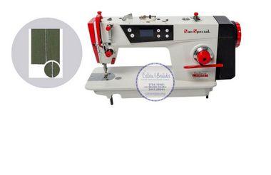 Máquina Costura Reta Direct Drive 220v Sun Special SS180D-TZ-QI -110 V + KIT DE CALCADORES