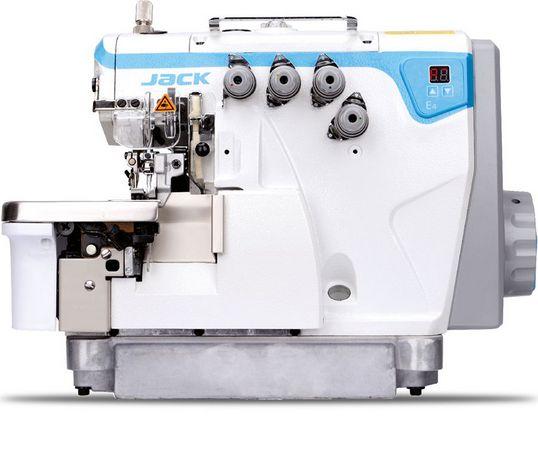 Maquina de costura Overlock de 2 Agulhas 4 fios Direct Drive Novo Design PONTO CONJUGADO JACK JK- E4S-4-82/333 - 220 V
