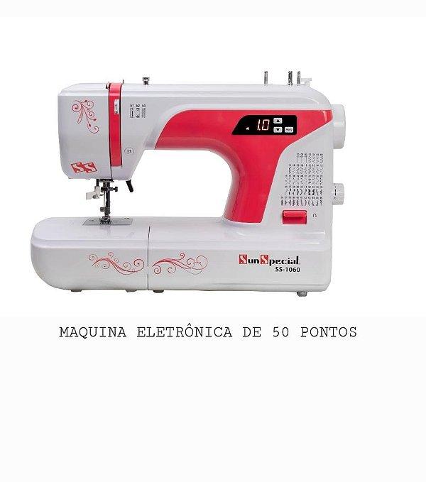 MAQUINA DE COSTURA DOMESTICA SUN SPECIAL COM 50 PONTOS MODELO SS1060 - RED AUTO VOLT