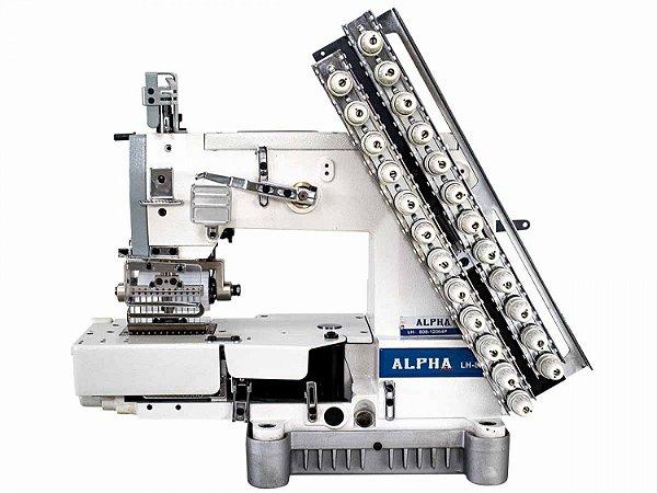 Máquina de Costura Industrial Elastiqueira 12 Agulhas com Catraca ALPHA LH-8008-12064P - Bivolt