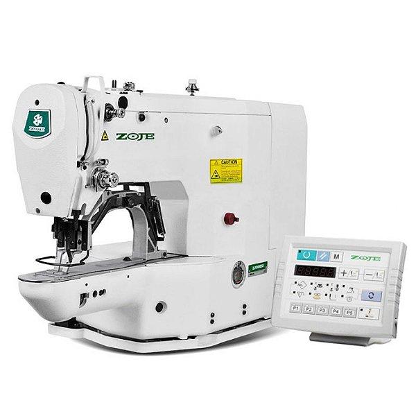 Maquina de Costura Travete Eletrônica Multifuncional Zoje ZJ-1900DHS-C - 220 vlts