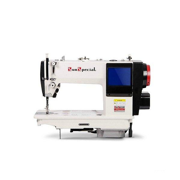 Máquina de Costura Reta Eletrônica Sunspecial SS-6830M-D4-DM-HM - 220 vlts + KIT DE CALCADORES