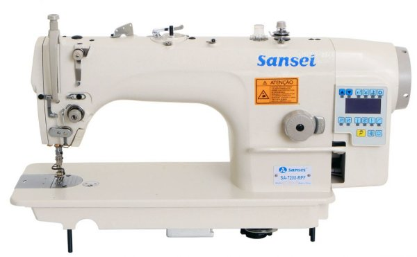 Maquina de Costura Reta Eletronica Sansei SA-7200-RPF  - 220 vlts + KIT DE CALCADORES