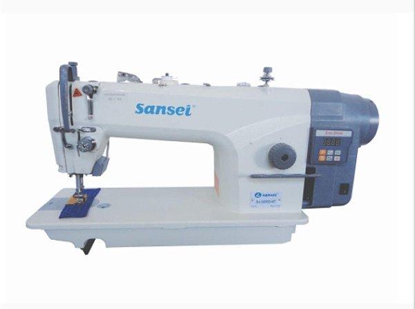 Maquina Reta Sansei direct drive e corte de Linha  SA-G9050-NT - 220 vlts COM KIT DE CALCADORES