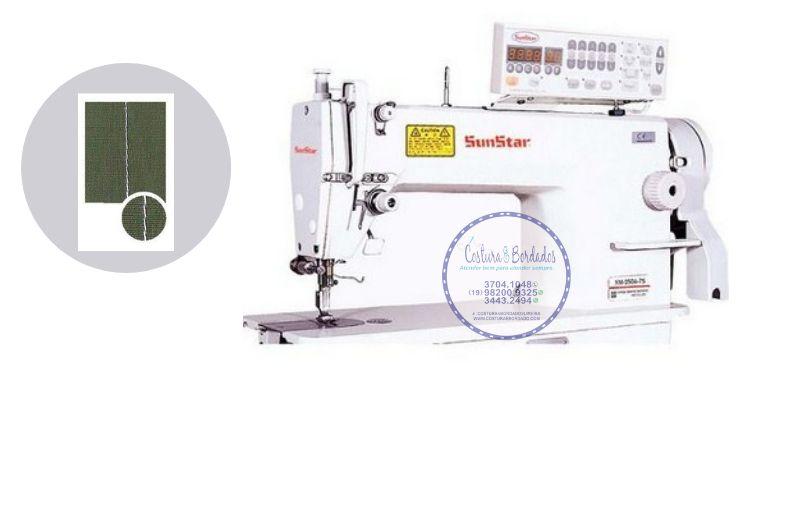 Maquina de Costura Reta Eletronica Sunstar KM-250 A - 220 vlts + KIT DE CALCADORES