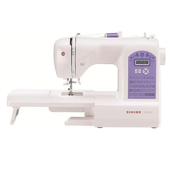 Máquina de Costura Singer Starlet 6680 74 Pontos - Branca/Roxa - 220 VLTS