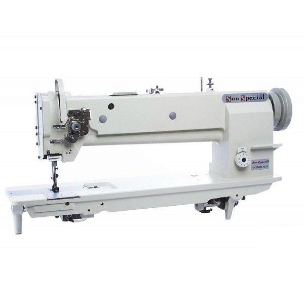 Máquina de Costura Industrial Sunspecial Transporte Triplo 02 AgulhaS Base Alongada GC-20606-2L18 - Bivolt