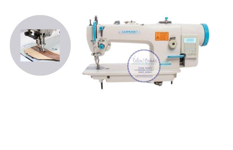 Maquina de Costura Reta Transporte Duplo Direct Drive LUMAK 0303-D4 - PONTO 12 MM - 220 V COM KIT DE CALCADORES