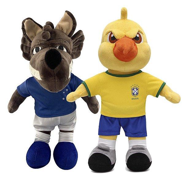 Mascote do Cruzeiro Raposão e Canarinho Pistola