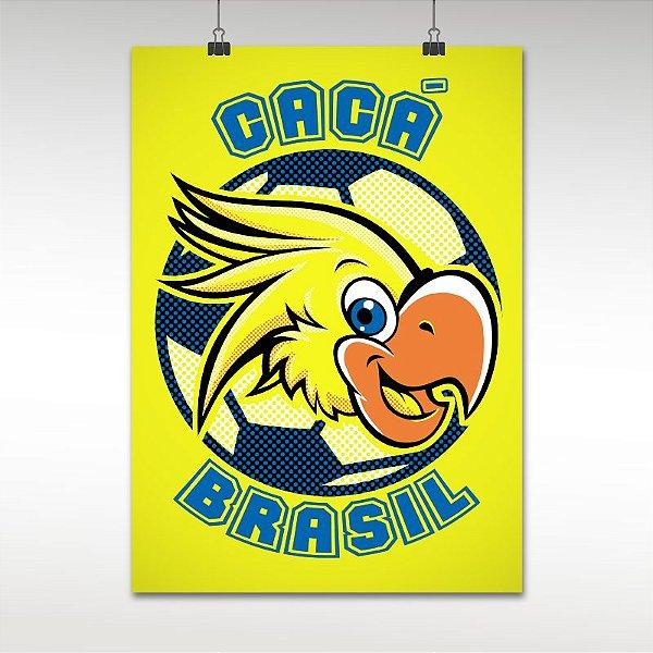 Pôster do Brasil Mascote Cacá