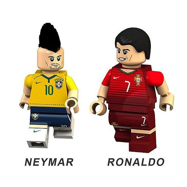 Bonecos de Futebol Neymar e Cristiano Ronaldo