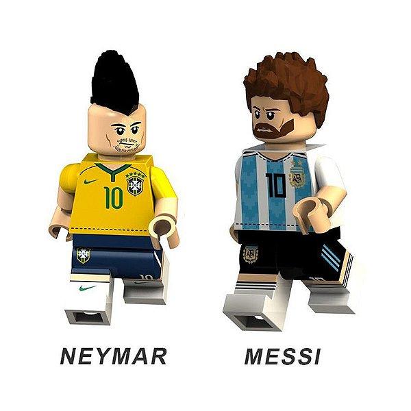 Bonecos de Futebol Neymar e Messi