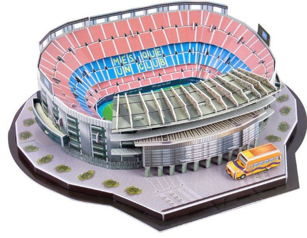 Maquete do Estádio do Barcelona Camp Nou