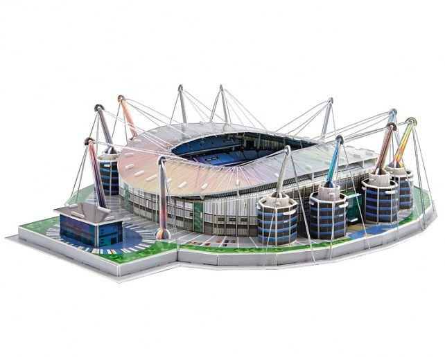 Maquete do Estádio do Manchester City Etihad Stadium