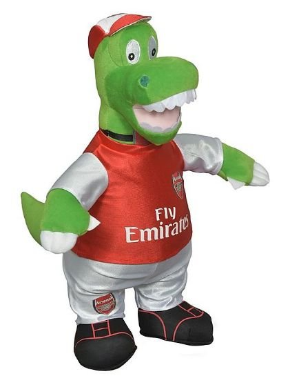 Mascote do Arsenal Gunnersaurus Rex