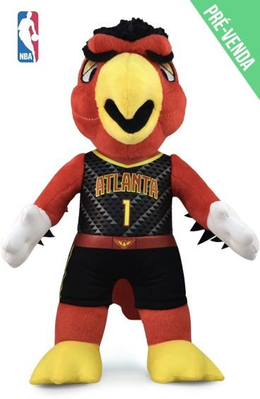 Mascote da NBA Pelúcia Harry Atlanta Hawks Basquete