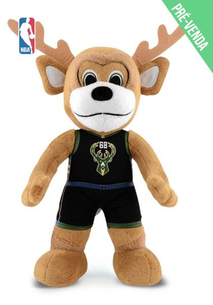 Mascote da NBA Pelúcia Bango Milwaukee Bucks Basquete