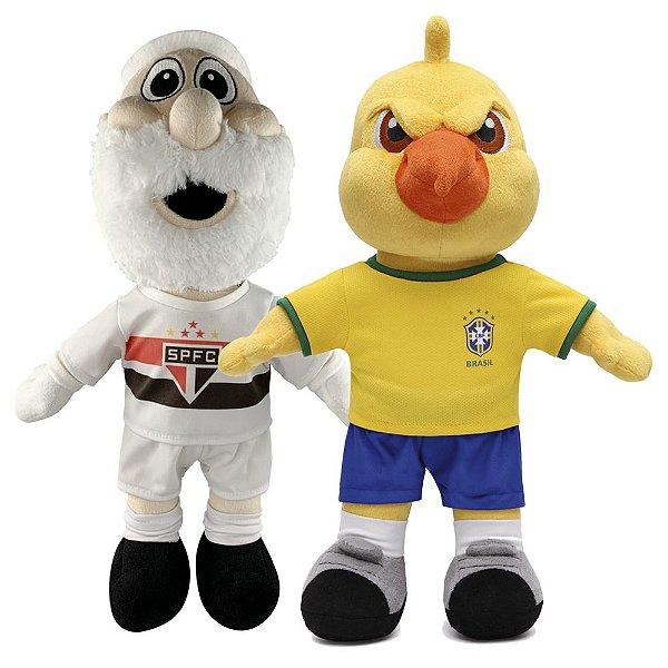 Mascote do São Paulo e Canarinho Pistola