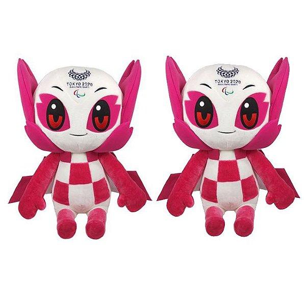 Mascote das Paralimpíadas 2021 Pelúcia Someity com 2 Pelúcias