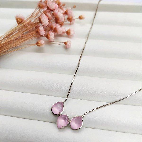 colar ana rosa prata