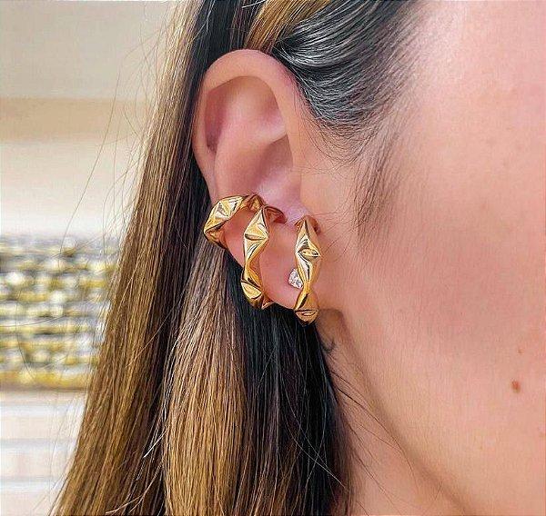 kit 3 piercing fake juliette dourado