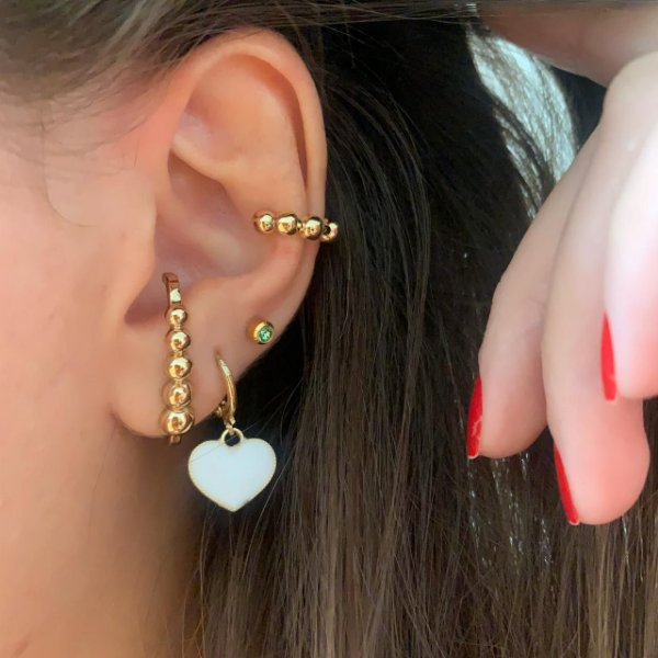 Ear Hook Esferas Dourado