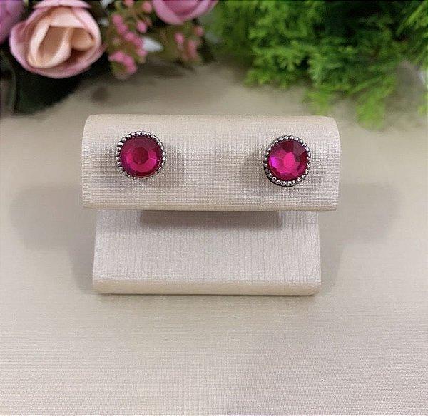 Brinco Mini Redondinho Pink