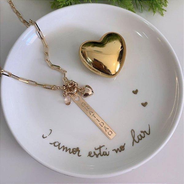 Colar Cartier Gratidão Pêssego Dourado