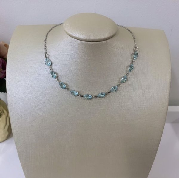 Chocker Mini Zircônias Acqua Prata