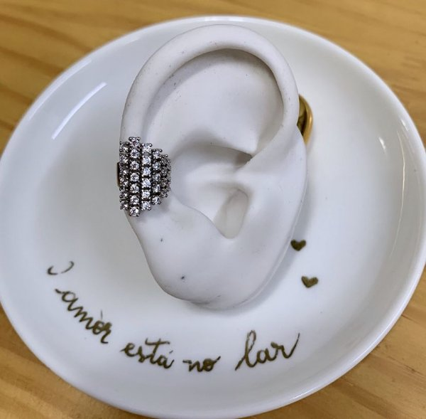 Piercing de Pressão Luxury Prata
