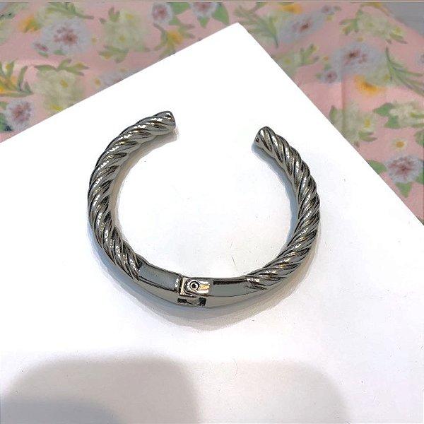 Bracelete Trançado Prata