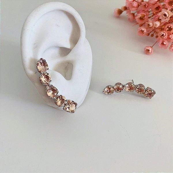 ear cuff pessego prata