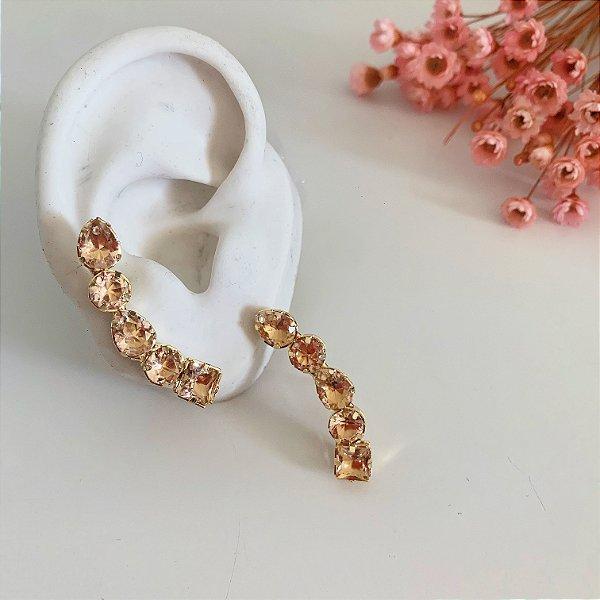 ear cuff pessego dourado