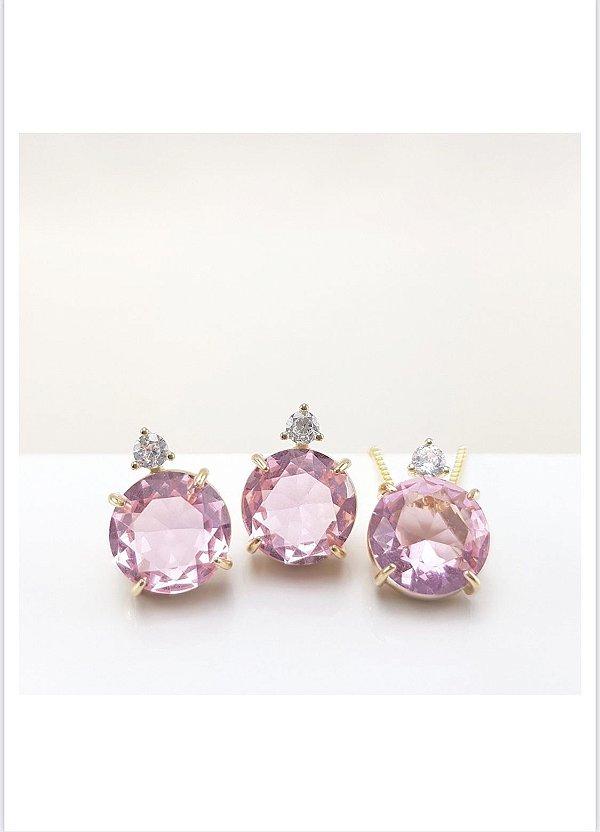 conjunto luxury real rosa dourado