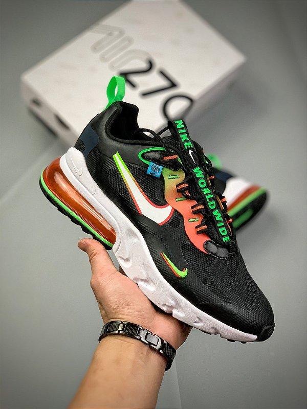Tênis Nike Air Max 270 React World Wide Black