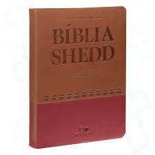 Bíblia Shedd -vermelha e marrom