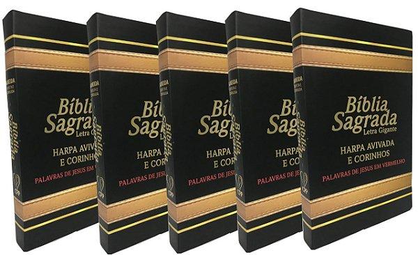 KIT com 5 Bíblias Pretas - PREÇO DE ATACADO
