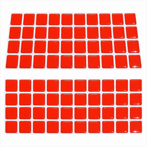 Pastilha faixinha 4 linhas Vermelho 1300 f4