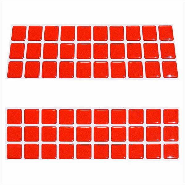 Pastilha faixinha 3 linhas vermelho 1300 f3