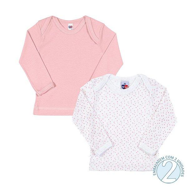 Kit 2 peças camisetas manga longa algodão - Tip Top